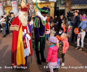 Sinterklaas met zijn Zwarte Pieten zijn ook weer in Roden aangekomen.