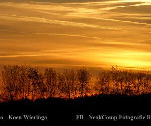 De zonsondergang zag er weer fraai uit.