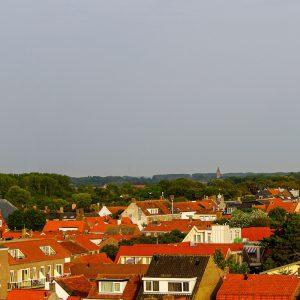 Panoramafoto Domburg (Zeeland) augustus 2018.