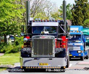 Truckrun Nienoord Truckers dendert door Westerkwartier en Noordenveld. (11 mei 2019)