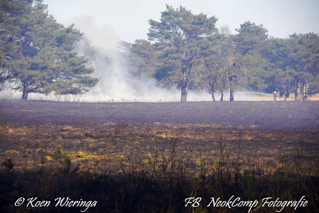 2020-04-05 Roden, Flinke natuurbrand in Mensingebos  nabij Alteveer.