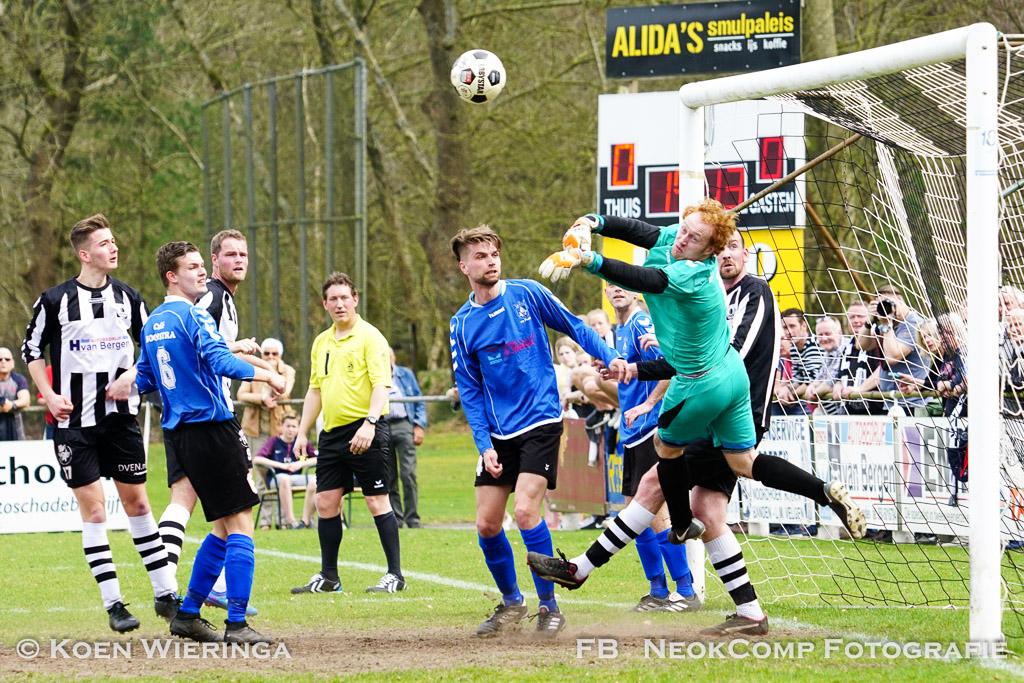 Roden, VV Roden verliest de derby tegen VV Peize met  2-3