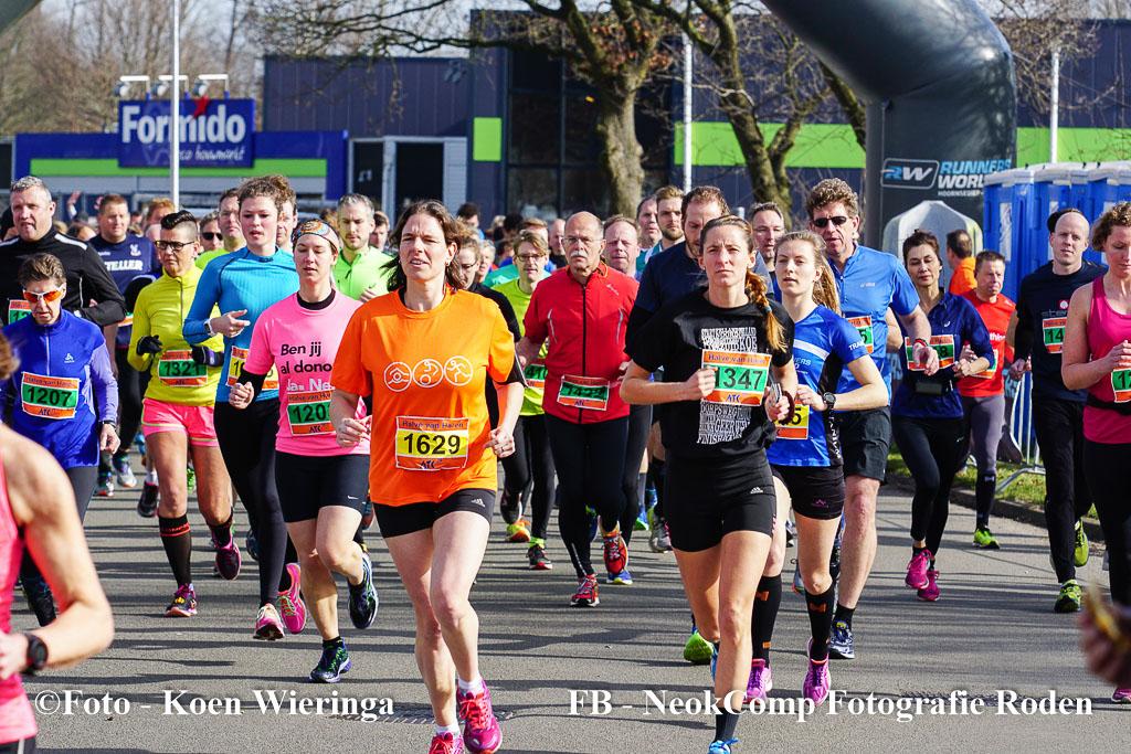 Halve Marathon Van Haren, de 5 en 12,5 km loop alsmede scholierenrun